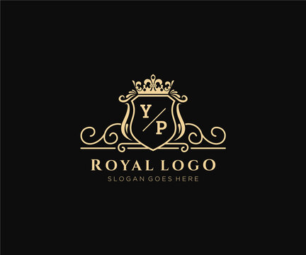 Initial YP Letter Luxurious Brand Logo Template, for Restaurant, Royalty, Boutique, Cafe, Hotel, Heraldic, Jewelry, Fashion and other vector illustration.