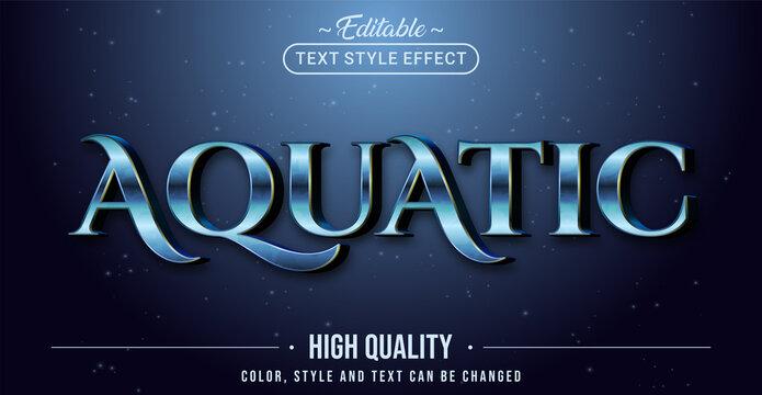 Editable text style effect - Aquatic text style theme.
