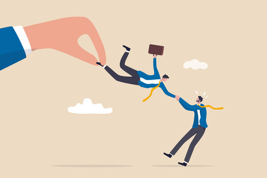Talent war, recruitment competition for special skill candidate, HR human resource tug of war to get employee concept, big company hand fighting by pulling businessman candidate with current employer.