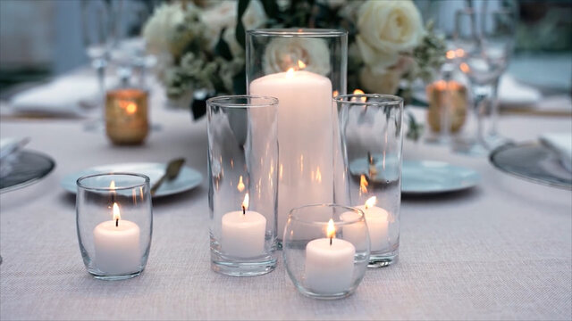 Luxury  candles on a table