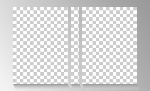 flyer empty transparent free brochure design template