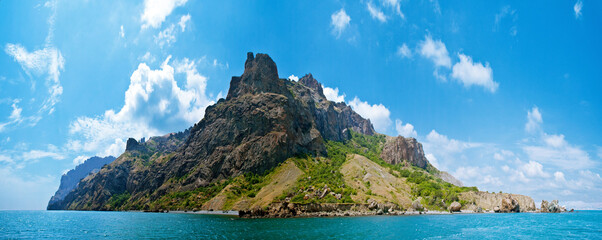 extinct volcano Karadag, View from the boat
