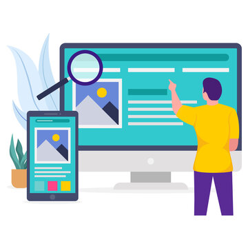 Freelancer working on web design