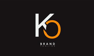 Obraz Alphabet letters Initials Monogram logo KO, OK, K and O - fototapety do salonu