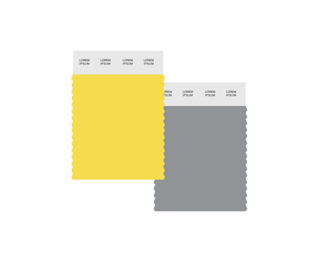 Color of the year 2021. Gray and yellow graphic design 2021