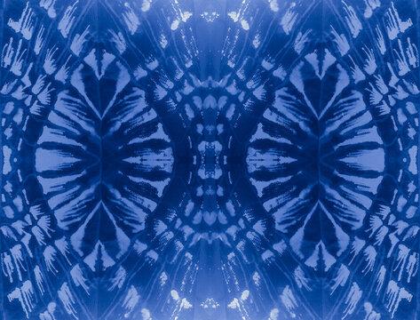 Splatter Snake Pattern. Indigo Safari Style. Blue