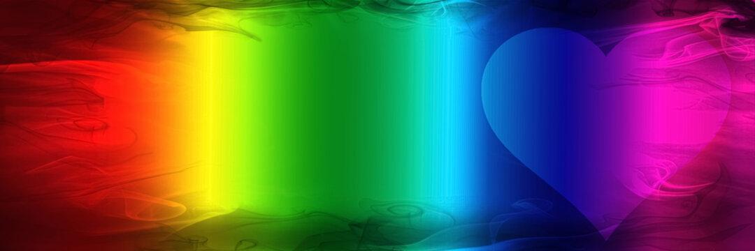 Regenbogen-Banner mit Herz