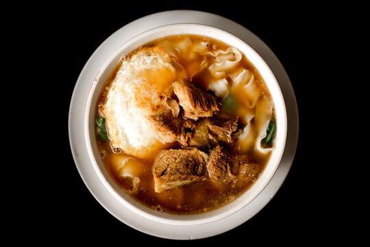 Ramen beef noodles soup