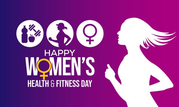 Women's health and fitness day is observed every year on last Wednesday in September, to promote the importance of health and fitness for women of all ages. vector illustration