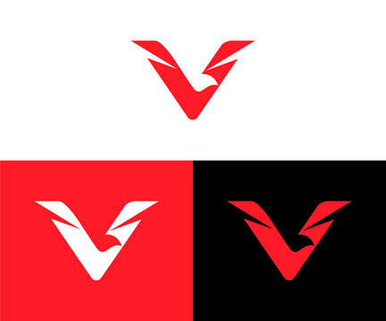 Victory ,Wing ,V letter Logo template.