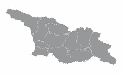 Georgia administrative map