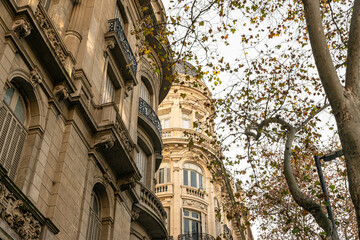 Old buildings of Buenos Aires, capital city of Argentina