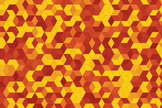 Abstract background with red and yellow geometric patterns