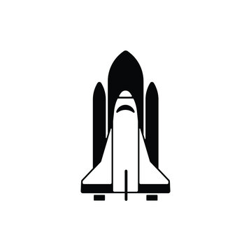 Spacecraft icon in trendy flat style isolated on white background. Symbol for your web site design, logo, app, UI. Vector illustration, EPS