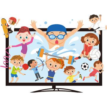 大画面テレビ スポーツ観戦