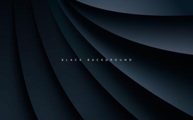 Obraz Black abstract dimension background realistic style - fototapety do salonu