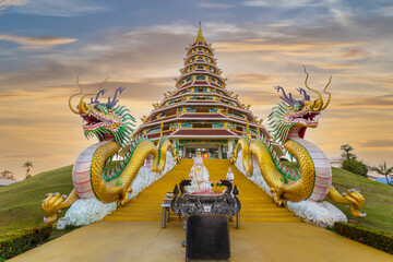 Fototapeta Huai Pla Kung Temple is a temple with Thai-Chinese buildings, Thailand. obraz