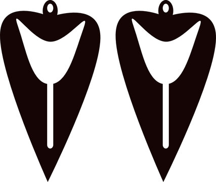 earrings jewelry svg vector template cut file for cricut and silhouettte