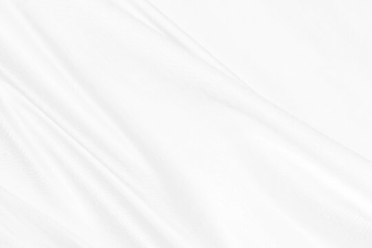 fashion textile white Clean woven beautiful soft fabric abstract smooth curve shape decorative background