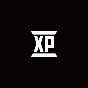 XP Logo monogram with pillar shape designs template