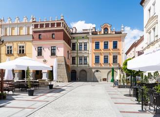 Fototapeta Kamienice na rynku w Tarnowie obraz