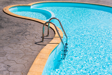 Obraz Stairs In Swimming Pool Minimalist - fototapety do salonu