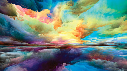 Obraz Illusion of Land and Sky - fototapety do salonu