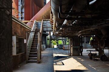Landschaftspark Duisburg-nord Former Steel Industrial Site Located In Duisburg, Germany