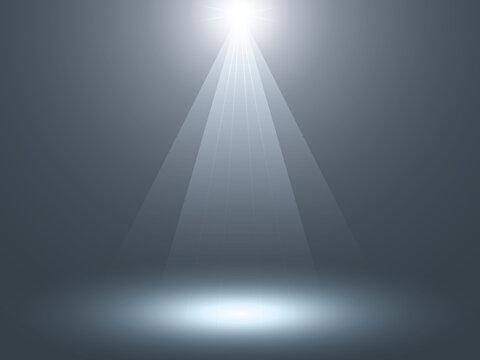 スポットライトに照らされたステージ