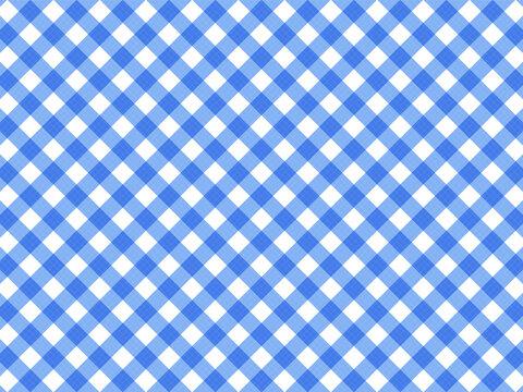 青色のチェック柄