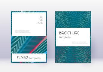 Fototapeta Stylish cover design template set. Red abstract li obraz