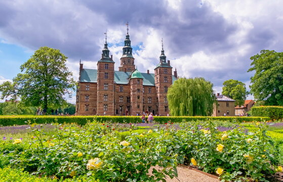 Rosenborg Castle or Slot in Copenhagen, Denmark