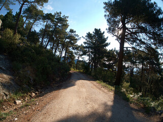 krajobraz góry hiszpania sierra de guadarrama widok przyroda