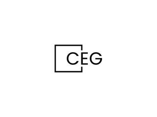 Obraz CEG Letter Initial Logo Design Vector Illustration - fototapety do salonu