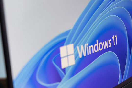 View of The New Microsoft Windows 11 Logo on Computer Screen