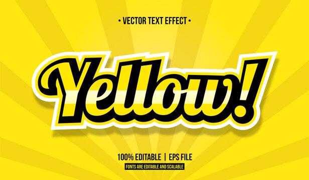 Yellow vector text effect.