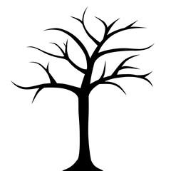 Obraz Drzewo bez liści - fototapety do salonu