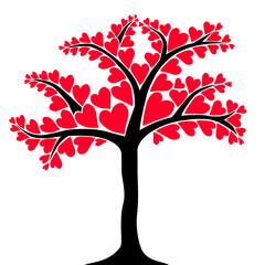 Obraz Drzewo z liśćmi w kształcie ser - fototapety do salonu