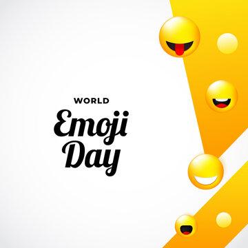 World Emoji Day Background Design