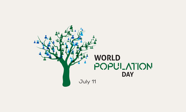 World Population Day Vector Template observed on July 11 every year. Day of raise awareness of global population issues.