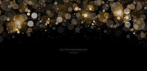 Obraz glitter background, luxury gold stardust light - fototapety do salonu