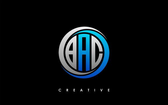 BAC Letter Initial Logo Design Template Vector Illustration