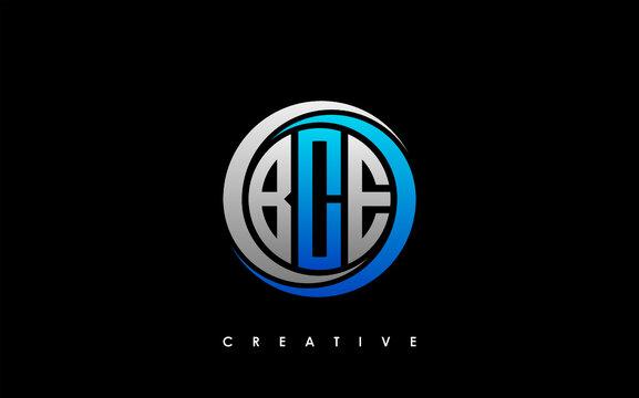 BCE Letter Initial Logo Design Template Vector Illustration