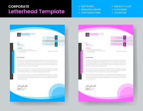 New Style Letterhead Template Design Print Ready