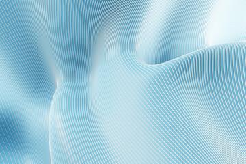 Fototapeta Creative blue lines and curves background. 3D Rendering. obraz