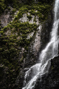 waterfall in the mountains
