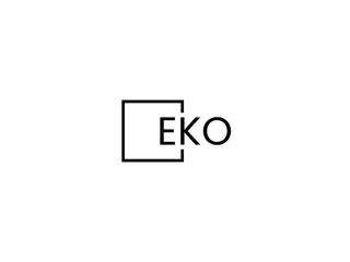 Obraz EKO Letter Initial Logo Design Vector Illustration - fototapety do salonu