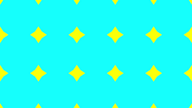 3D rendering of a seamless yellow diamonds on a blue background