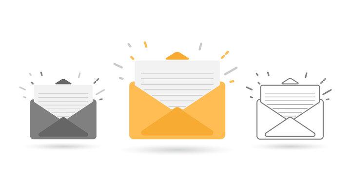 mail envelopes on white background