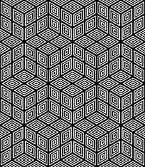 Fototapeta premium Seamless op art pattern. 3D illusion effect.